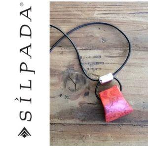 Silpada Sponge Coral Necklace festival fashion!